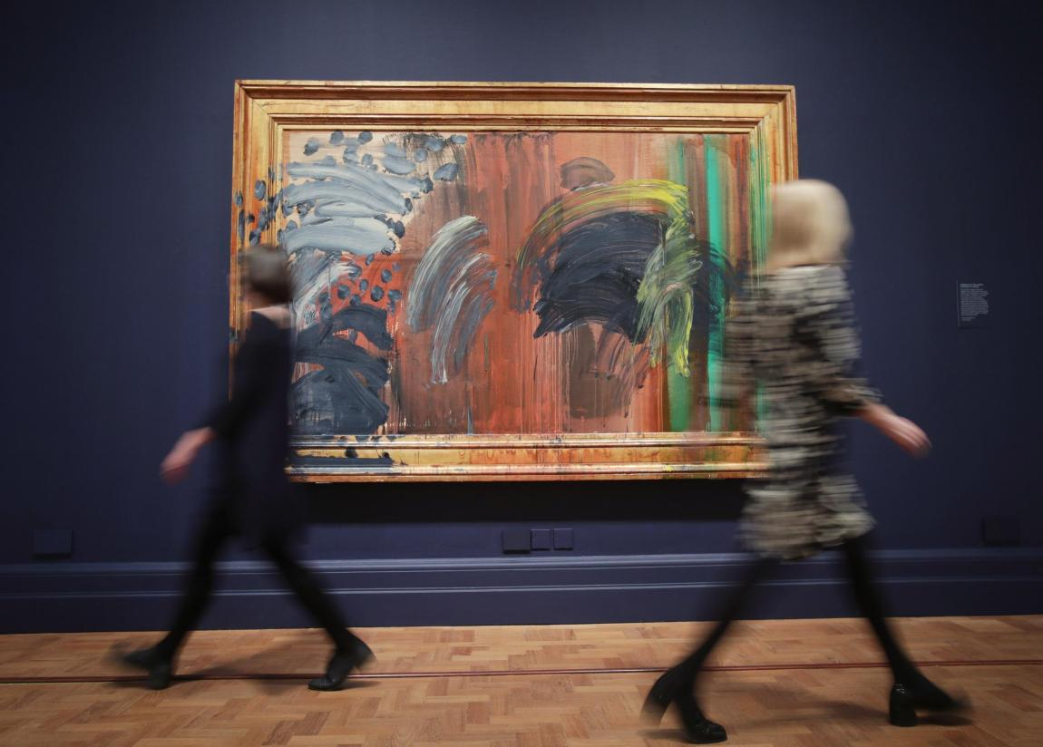 Howard Hodgkin Painting with Frame
