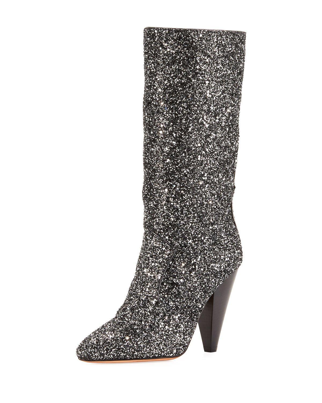 glitter boots, veronica beard