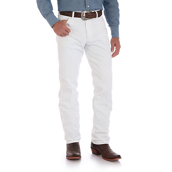wrangler, white jeans, original fit