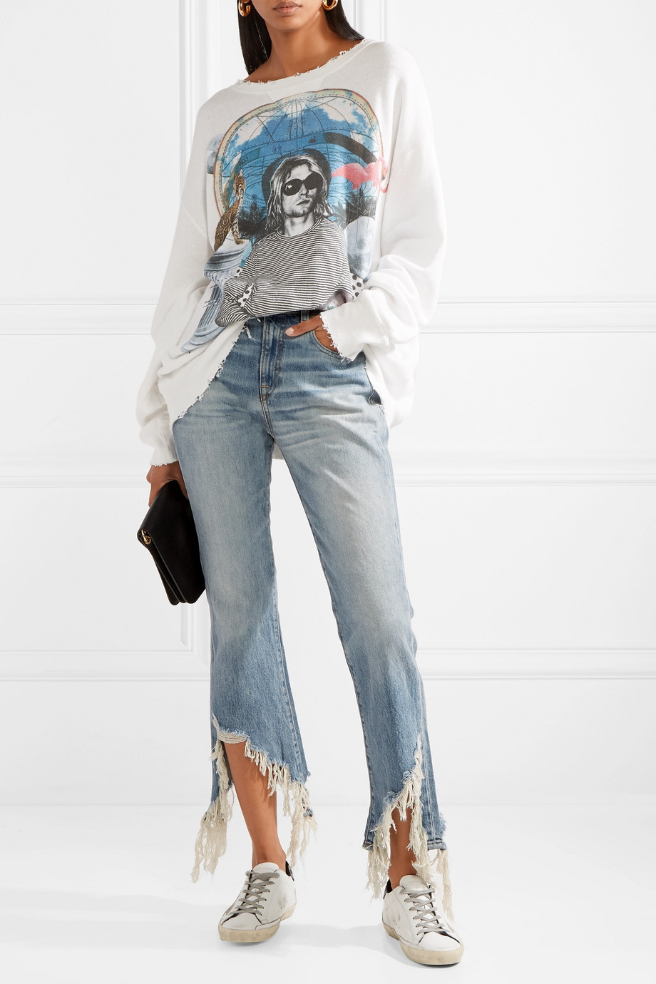 Distressed Kick Jeans