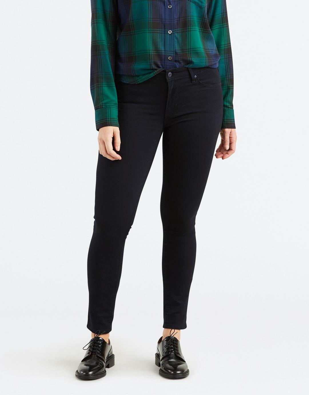 levi's, skinny jeans, black jeans