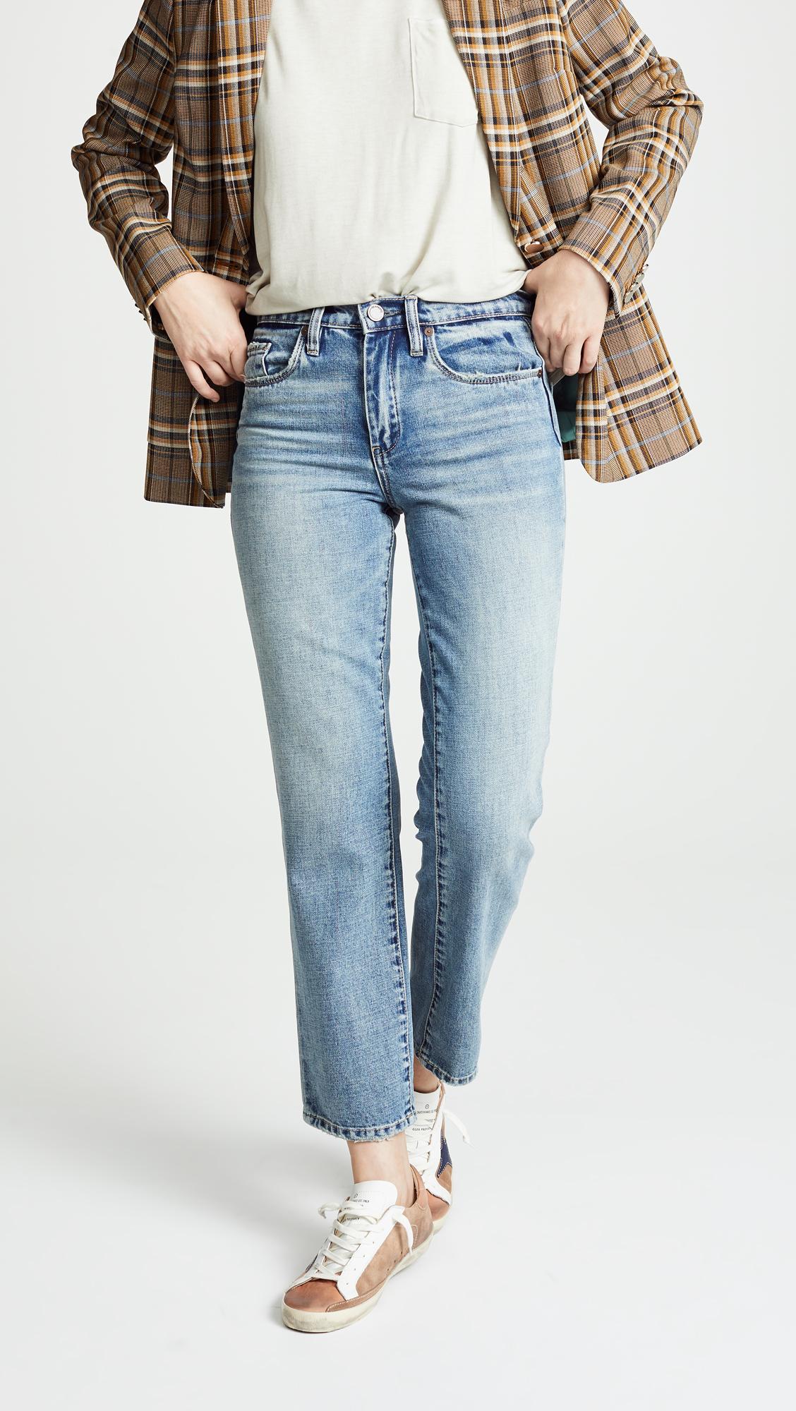 blank jeans, straight-leg jeans, cropped jeans, vintage washed denim