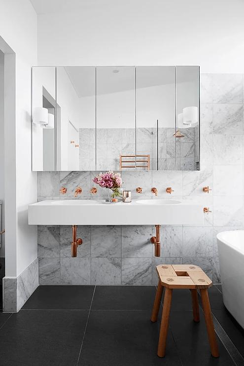 marble, tile, bathroom, backsplash