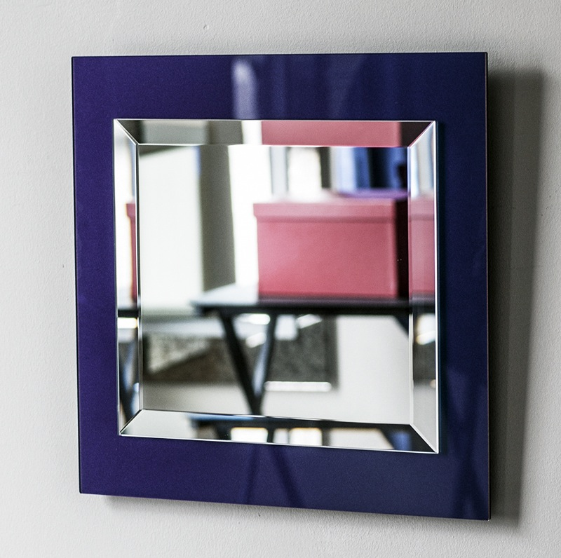 two-toned mirror, blue purple mirror, blue mirror
