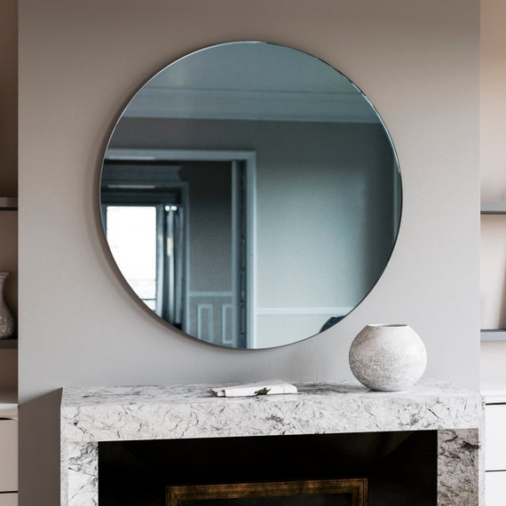 1920s and 30s style  Blue Mirror