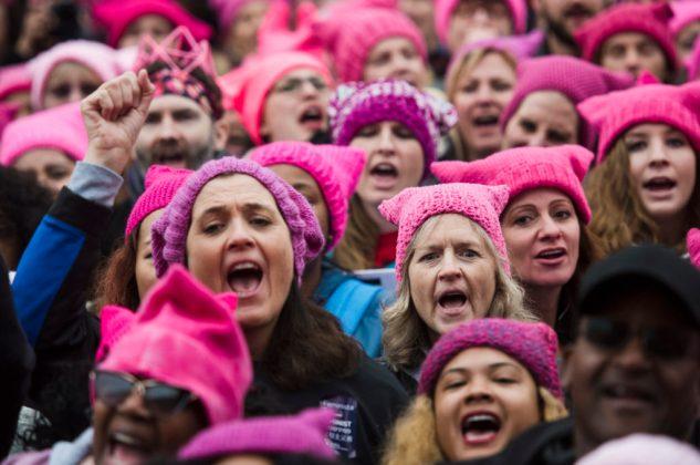 WASHINGTON, DC- JAN 21- Groups gather for the Women's March on Washington on Saturday, Jan. 21, 2017 in Washington, D.C. (For the Washington Post: Amanda Voisard)
