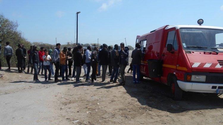 Campo de refugiados Calais. Crédito Daniel Wizenberg