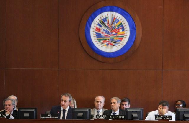 Los miembros de la OEA escucharon el informe de Luis Almagro sobre Venezuela pero eludieron la aplicación de la Carta Democrática (EFE)