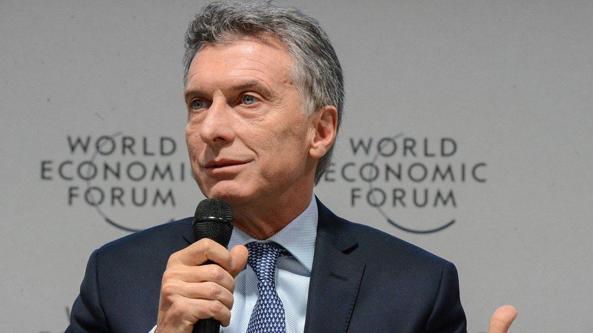 El presidente Mauricio Macri habla en el Foro de Davos que se realizó el año pasado