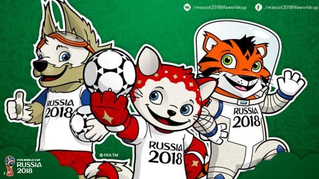 Las mascotas del Mundial de Rusia 2018, al que se espera que visiten un millón de turistas