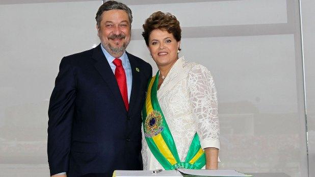Antonio Palocci y Dilma Rousseff