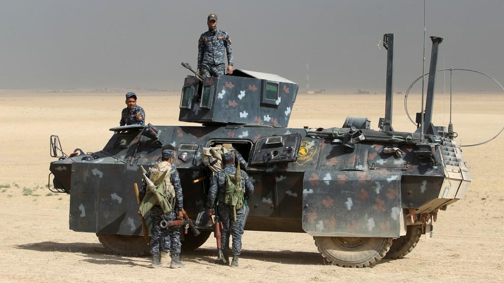 Blindados iraquíes (AFP)