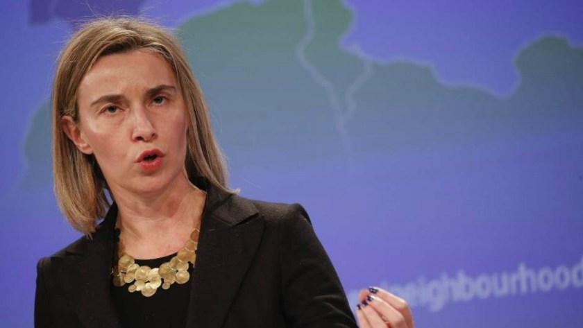 La jefa de la diplomacia europea, Federica Mogherini, pidió a Venezuela reconsiderar la expulsión del embajador alemán (EFE)
