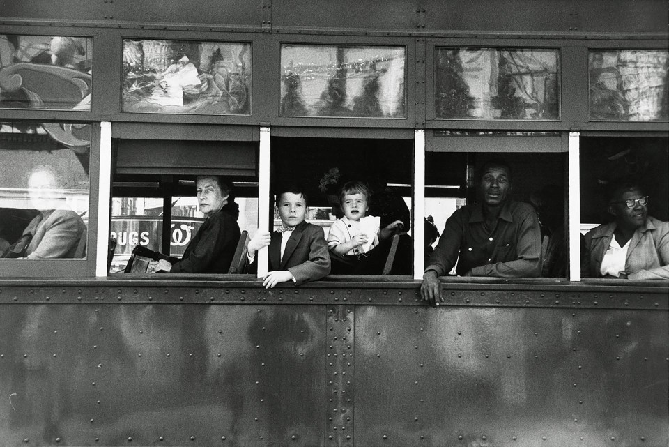"""""""Tranvía, Nueva Orleans"""" (Robert Frank, Estados Unidos, 1955)"""