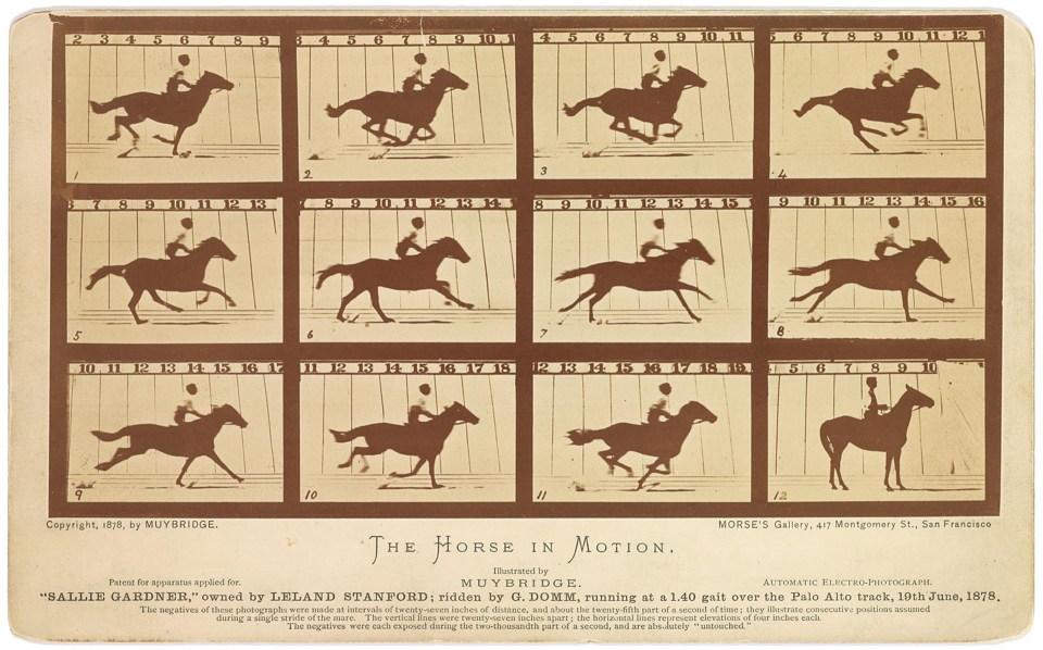 """""""El caballo en movimiento"""" (Eadweard Muybridge, 1878)"""