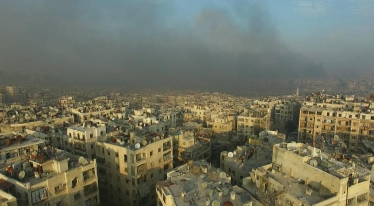 Vista de un barrio de Alepo tras un bombardeo en 2016 (REUTERS via ReutersTV)