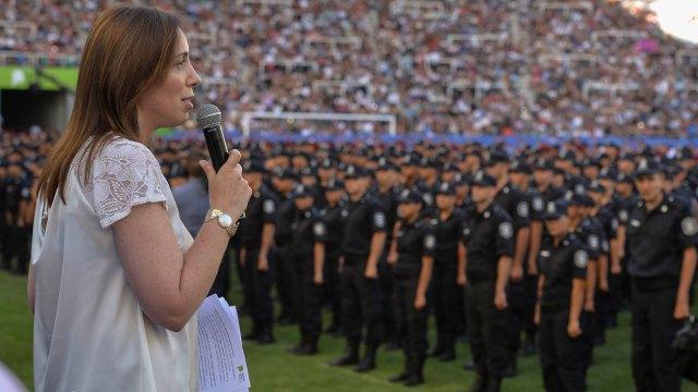 La gobernadora bonaerense anunciará medidas para mejorar el desempeño de la Policia (NA)