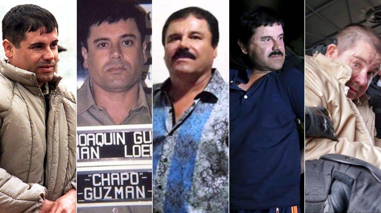 El Chapo Guzmán estaba con su esposa e hijas al momento de su detención (Foto: Archivo)