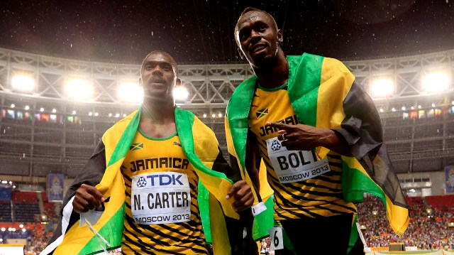 El camino de Usain Bolt seguió en el Mundial de Atletismo de Moscú 2013 y en Pekín 2015 (Getty Images)