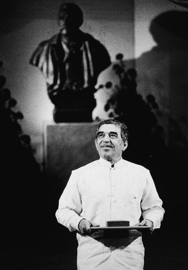 Gabo, cuando recibió el Nobel, en 1992 (Getty Images)