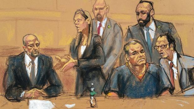 Ilustración de una de las audiencias, en febrero de 2017 (Reuters)