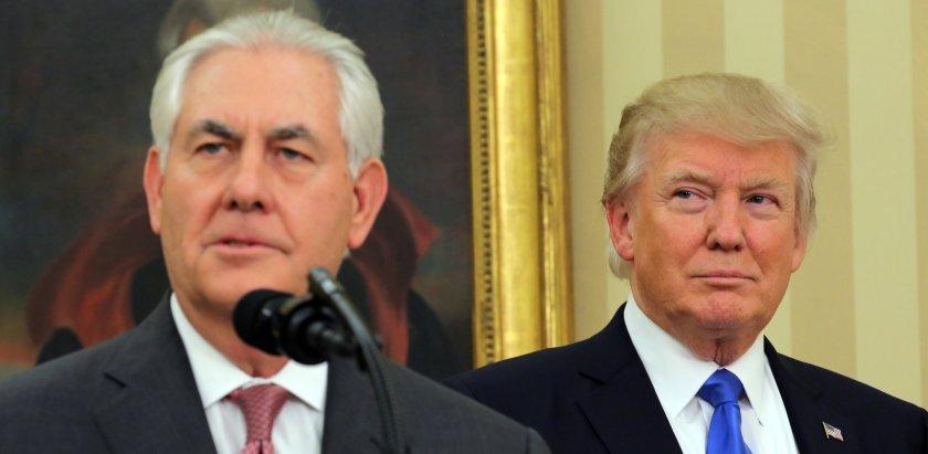 Rex Tillerson y Donald Trump (Reuters)