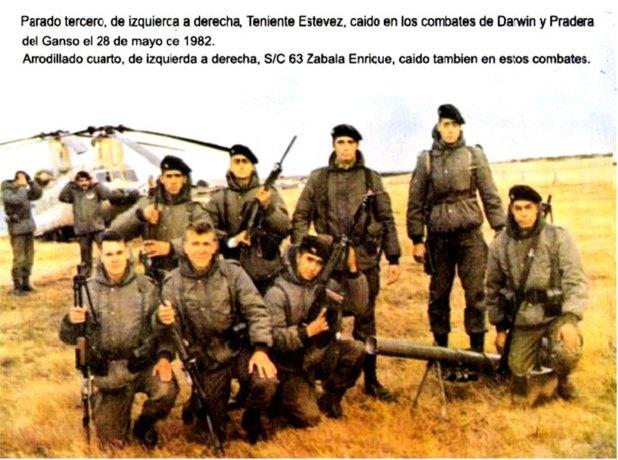 Los combatientes de la Compañía C del Regimiento 25