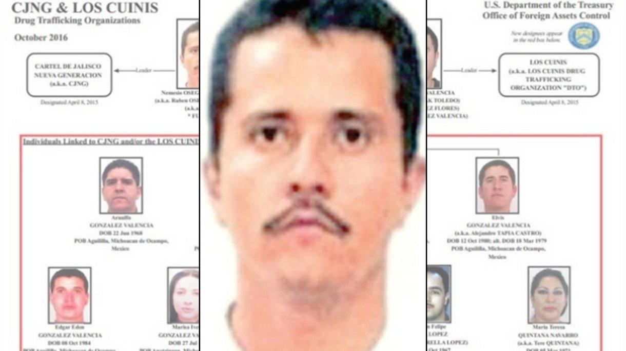 """Desde 2016 Nemesio Oseguera, """"El Mencho"""" y 7 de sus cuñados están incluidos en la lista negra del narcotráfico en los EEUU"""