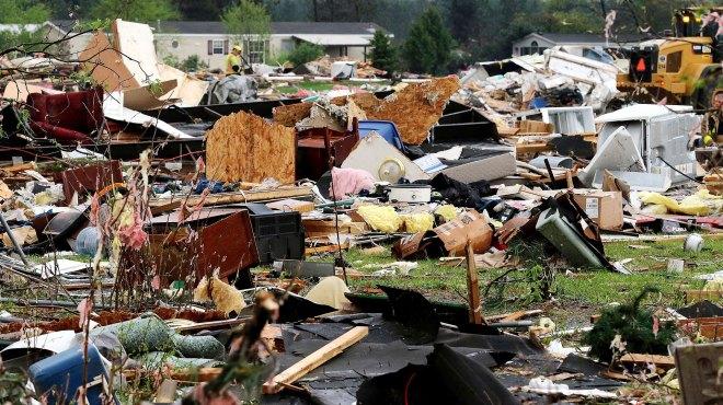 Así quedó Prairie Lakes Estates luego de la tormenta (AP)