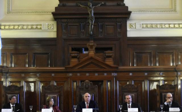 Los cinco jueces de la Corte Suprema (DyN)