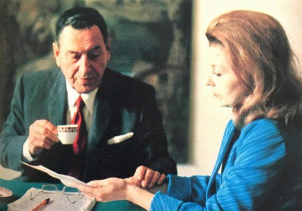 Perón e Isabelita, en su residencia de Madrid
