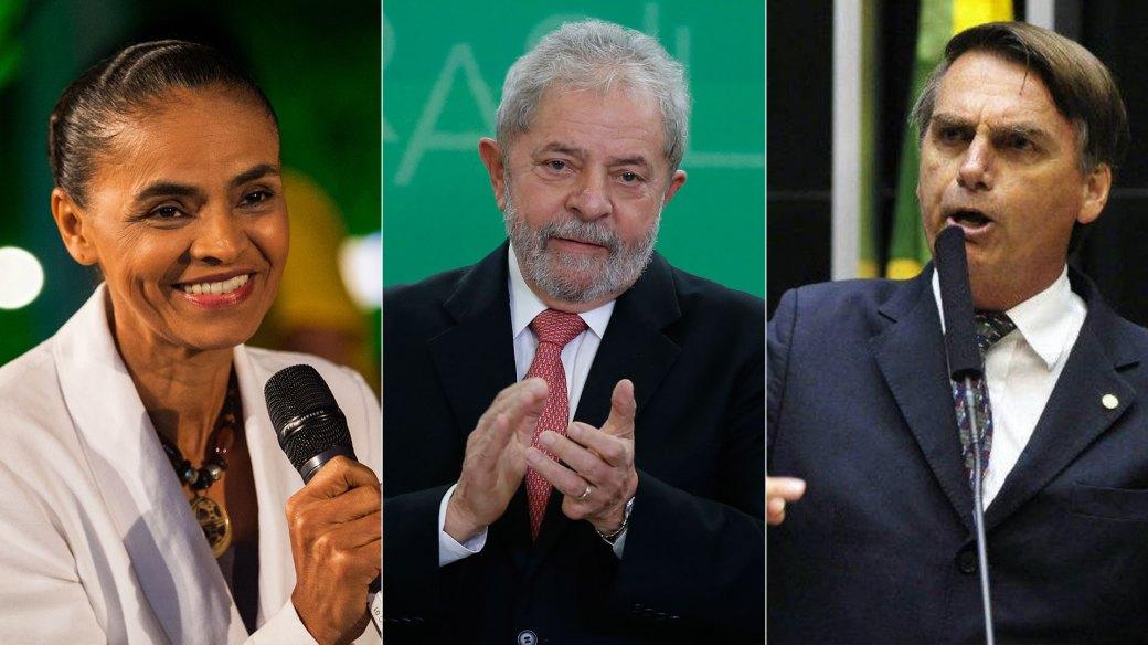 Lula da Silva sigue siendo el favorito, pero está inhabilitado por corrupción. Sin el petista, Bolsonaro lidera las encuestas seguido por la ecologista Marina Silva