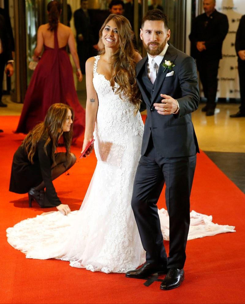 Lionel Messi eligió un traje de tres piezas de la firma europea Armani