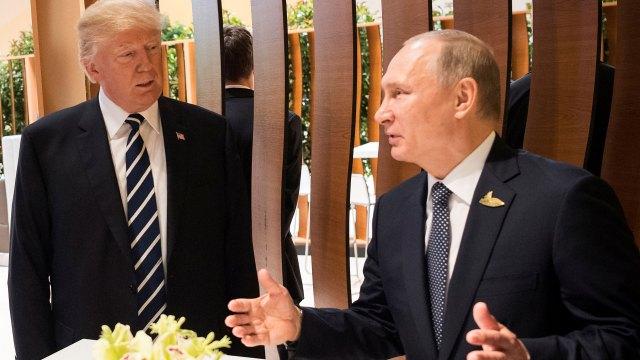 Donald Trump y Vladimir Putin, en su primer encuentro (Reuters)