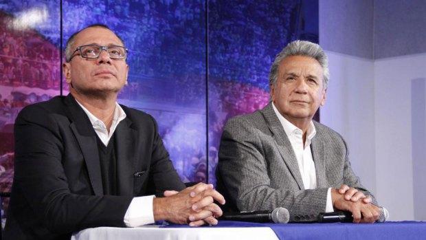 Jorge Glas y Lenín Moreno. La dupla presidencial se rompió apenas comenzaron a avanzar las causas por corrupción contra Glas en la Justicia.