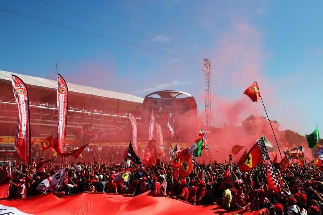 Además del GP, se llevó a cabo la celebración por los 70 años de Ferrari