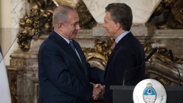 Netanyahuen su visita a Buenos Aires (Foto: Adrián Escandar)
