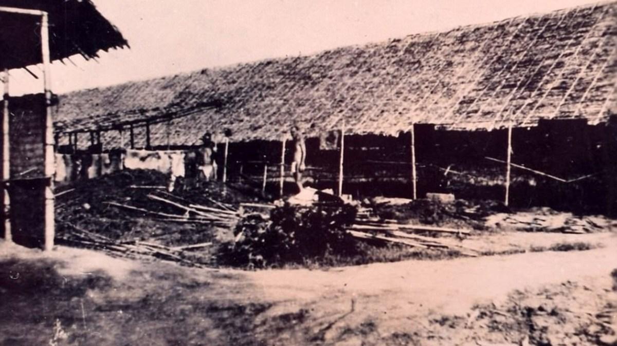 Las cabañas donde dormían los prisioneros