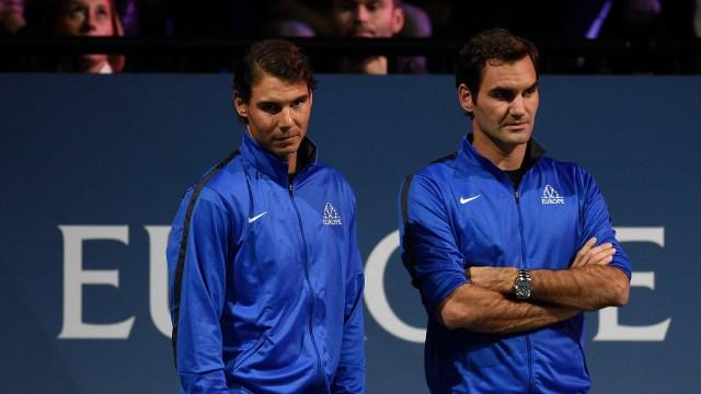 AFP PHOTO / Michal Cizek Nadal y Federer jugaron juntos en dobles el año pasado