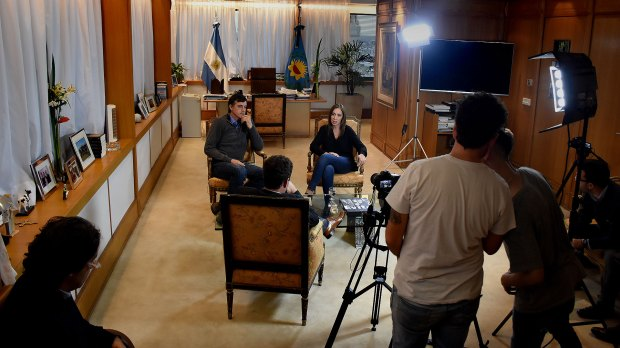 El detrás de escena de la entrevista de Esteban Bullrich y María Eugenia Vidal
