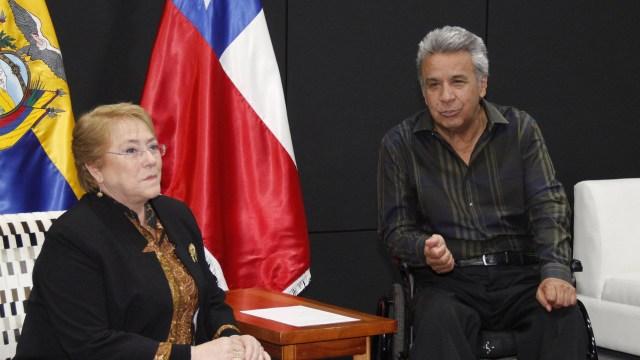 Los mandatarios de Ecuador y Chile mantuvieron un encuentro en las Islas Galápagos (EFE)