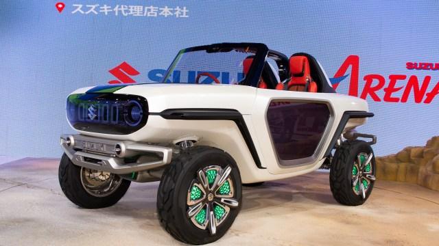 El Suzuki e-Survivor Concept tiene las mismas formas de un buggy, aunque con un diseño radicalmente futurista