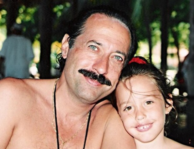 Guillermo y Yoyi, cuando ella era apenas una nena