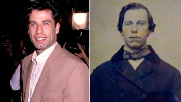 John Travolta y su casual parecido con este hombre durante su juventud