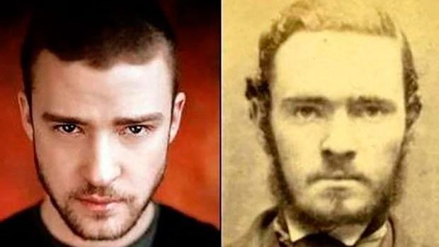Justin Timberlake y su particular parecido con una famoso ladrón del Viejo Oeste