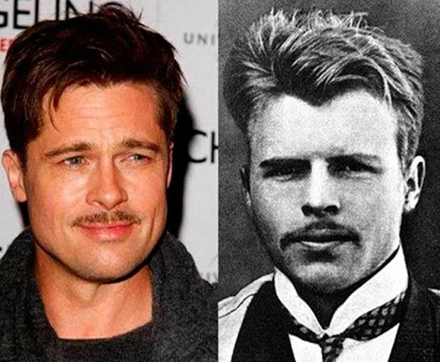 Brad Pitt parece el gemelo de Hermann Rorschach, un famoso psiquiatra y psicoanalista suizo