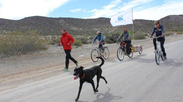El perro Turky fue un fiel compañero desde Salta hasta Ushuaia