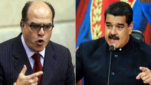 Julio Borges y Nicolás Maduro