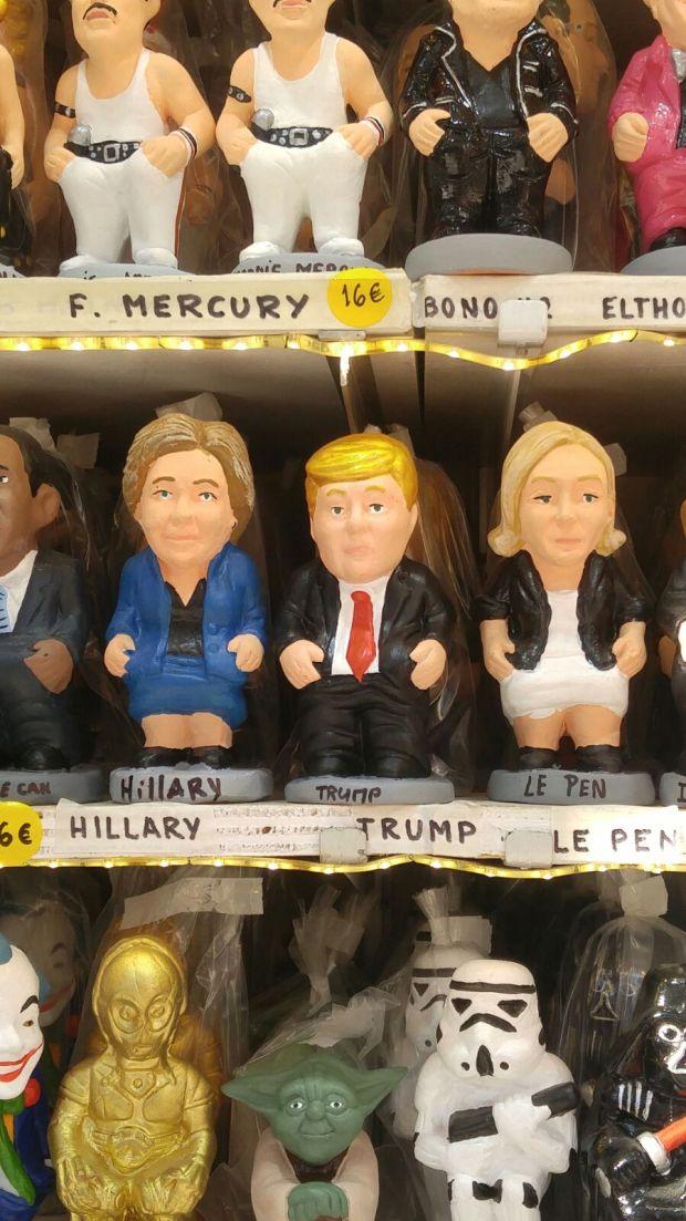 Hillary Clinton, Donald Trump y Marine Le Pen (Infobae)