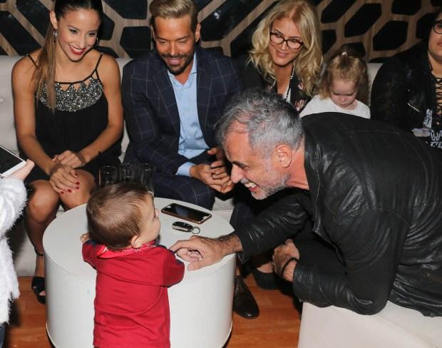 Jorge Rial jugó con Valentín, el hijo de Lourdes Sánchez y el Chato Prada